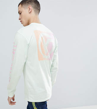 Vans Oversized Long Sleeve T-Shirt With Back Print In Green Exclusive To ASOS