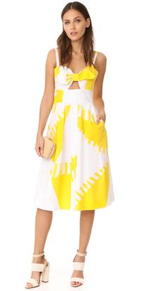 Milly Spinnaker Print Jordan Tie Dress $550 thestylecure.com