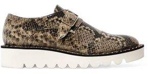 Stella McCartney Faux Snake-Effect Leather Brogues