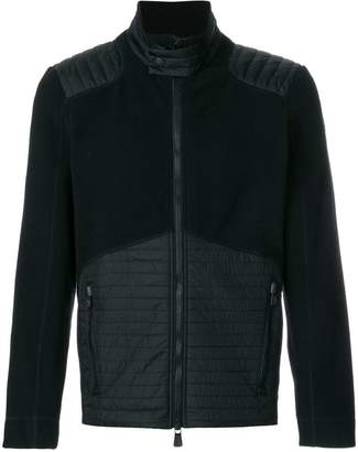 Moncler quilted detail fleece