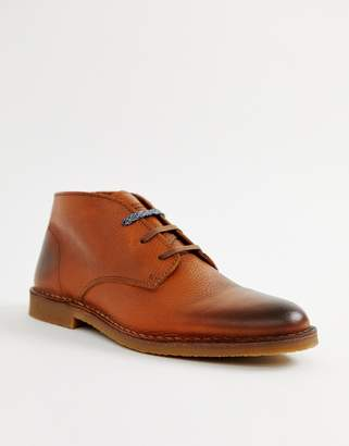 Selected leather desert boot