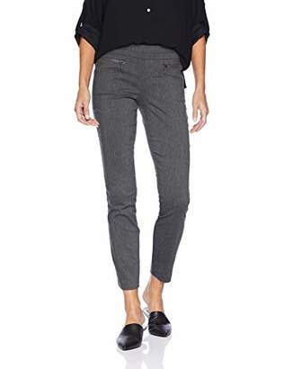 My Michelle Leighton By Junior's Skinny Pull On Career Pant with Zipper Pockets