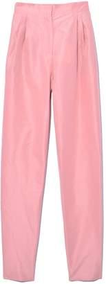 Mansur Gavriel Cotton Silk Taffeta High Waisted Pant in Blush