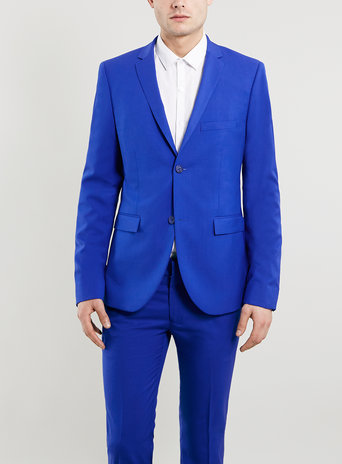 Cobalt Blue Ultra Skinny Suit Jacket
