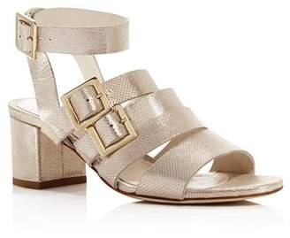 Bettye Muller Women's Tingle Chunky Heel Metallic Sandals