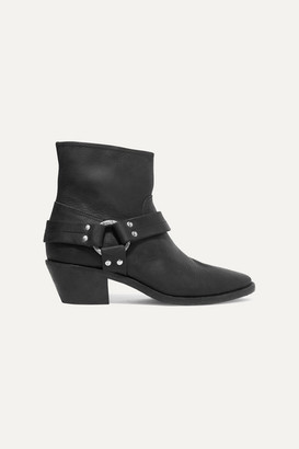 Golden Goose Bretagne Distressed Leather Ankle Boots - Black