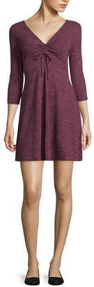 Arizona Long Sleeve Fit & Flare Dress-Juniors