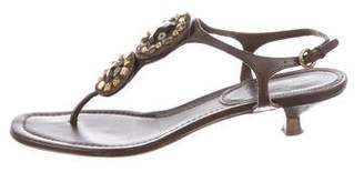 Miu Miu Embellished Thong Sandals