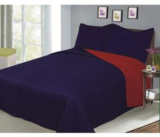 Fashionable Sobel At Home Luxury Reversible Solid Color Quilt Set Collection