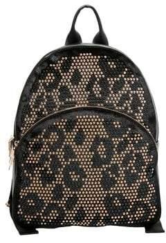 Betsey Johnson Studly Zip Leopard Print Backpack