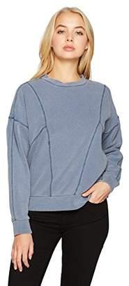 RVCA Women's Take Care Pullover Crew Neck Fleece Sweatshirt