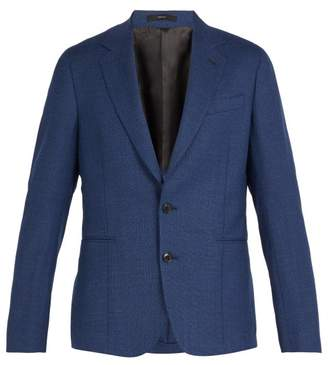 Paul Smith Single Breasted Wool Blazer - Mens - Blue