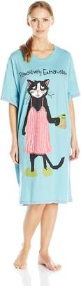 Hatley Little House By Women's LBH Pawsitively Exhausted Ladies Sleepshirt