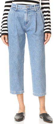 Citizens of Humanity Hailey Pleated Trouser Jeans $208 thestylecure.com