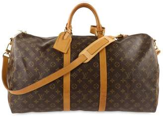 Louis Vuitton Keepall Bandouliere 55 Monogram Brown Canvas Weekend/Travel Bag