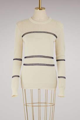 MAISON KITSUNÉ Openwork sweater