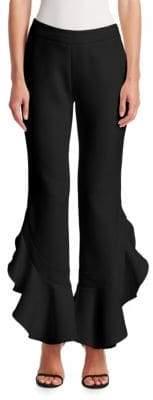 Giambattista Valli Ruffle-Trim Pants