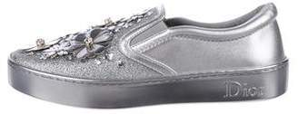 Christian Dior Metallic Slip-On Sneakers