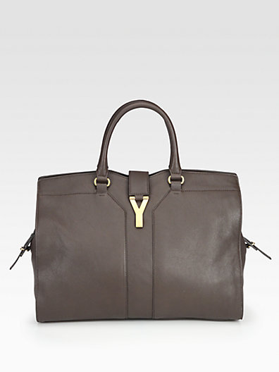 Saint Laurent Cabas Chyc Large Leather East West Bag