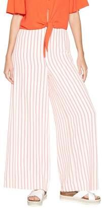 Red Herring Ivory And Orange Stripe Wide Leg Trousers
