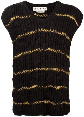 Marni stripes knit vest