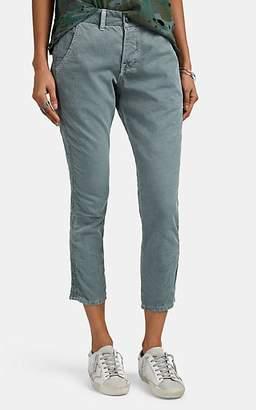 NSF Women's Tashi Cotton Slim Crop Trousers - Green