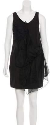 3.1 Phillip Lim V-Neck Mini Dress Black V-Neck Mini Dress