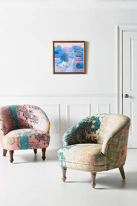 Anthropologie Rug-Printed Accent Chair