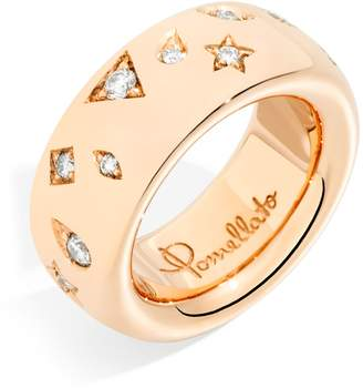Pomellato Medium Rose Gold and Diamond Iconica Ring