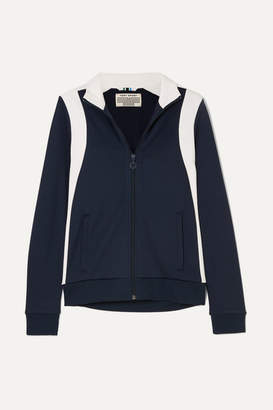 Tory Sport Striped Stretch-jersey Track Jacket - Navy