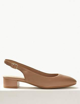 Marks and Spencer Wide Fit Leather Slingback Shoes