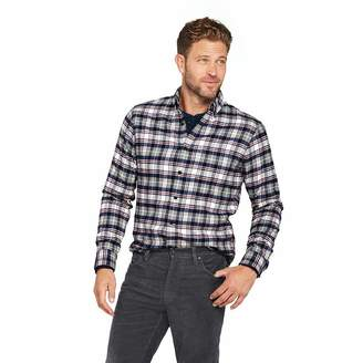 Lands' End Men's Big & Tall Traditional Fit Long Sleeve Pattern Flagship Flannel Shirt, L