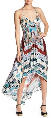 Sky Ole Halter Print Hi-Lo Dress