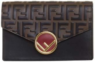 Fendi Wallet On Chain Black Leather Mini-bag
