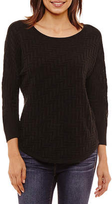 A.N.A Long Sleeve Scoop Neck Pullover Sweater - Tall
