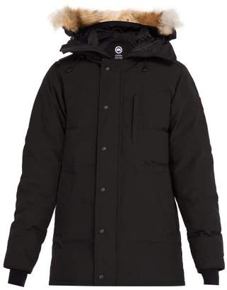 Canada Goose Carson Quilted Down Hooded Parka - Mens - Black