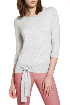 Halogen Pima Cotton Blend Tie Sweater