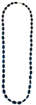 14K Graduated Sodalite Bead Strand Necklace