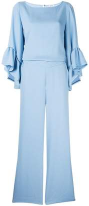 P.A.R.O.S.H. ruffled sleeve jumpsuit