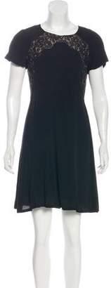 Rebecca Taylor Lace-Accented Sheath Dress