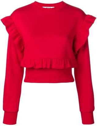 MSGM frill trim sweatshirt