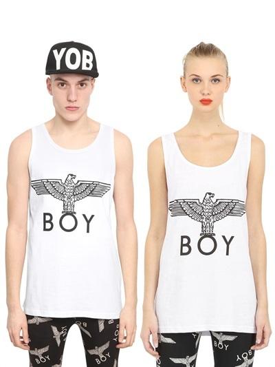 Boy London 2 Pack Boy Eagle Print Tank Top