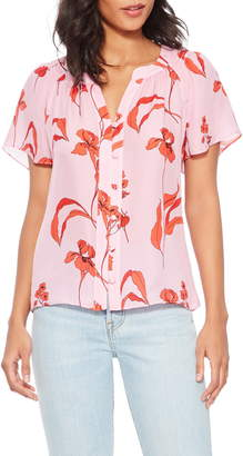 Parker Shailene Floral Silk Blend Blouse