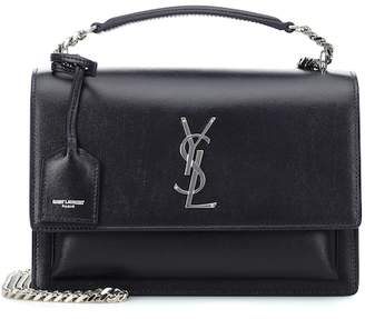 Saint Laurent Medium Sunset Monogram leather shoulder bag