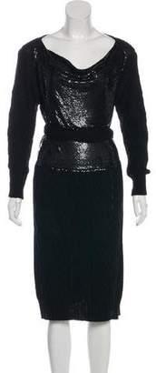 Jean Paul Gaultier Sequin Cable Knit Dress