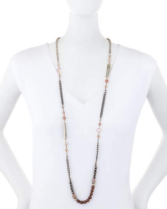 "Nakamol Long Chain & Bead Necklace, 42""L"