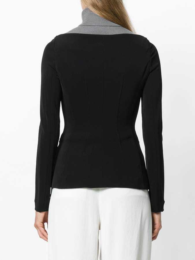 Theory wide neck fitted jacket