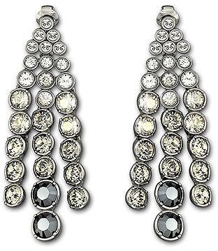 Hot Black Diamond Clip Earrings