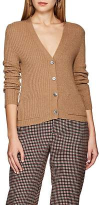 Thom Browne Women's Ribbed Camel Hair V-Neck Cardigan