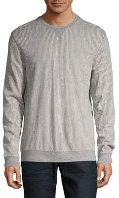 Black & Brown Black Brown Striped Crewneck Sweater